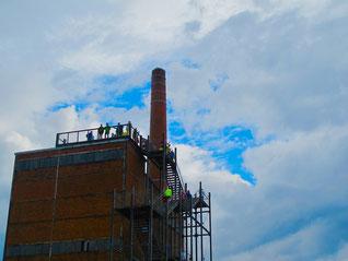 über dem Kraftwerk öffneten sich die Wolken