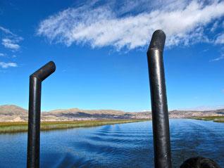 der Hafen von Puno hinter uns...