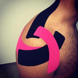 ostéopathe k-tape épaule sport