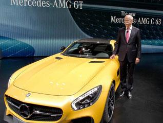 Daimler-Chef Dieter Zetsche auf der Automesse in Paris. Foto: Daniel Karmann