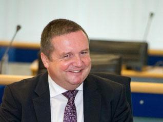 Stefan Mappus (CDU) hat gut lachen. Foto: Inga Kjer