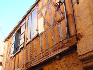 historische Fachwerk-Fassade