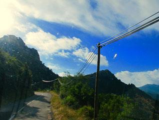 Bergstrasse nach Ocana hinauf