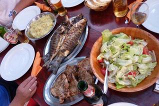 Fischteller in der Bucht Stupica