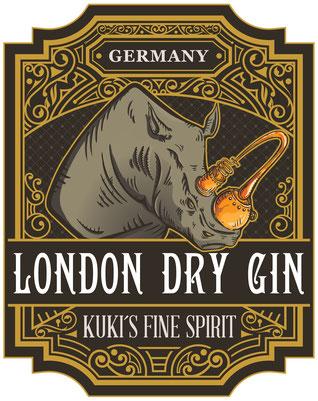 Erster Logoentwurf  London Dry GIN Kuki´s Fine Spirit