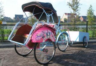 entertainment riksja fietstaxi