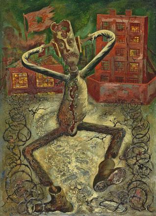 """George Grosz, """"La danza dell'uomo grigio"""" (1949)"""