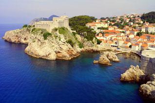 Dubrovnik aus der Himmelsperspektive bei Yacht-Urlaub