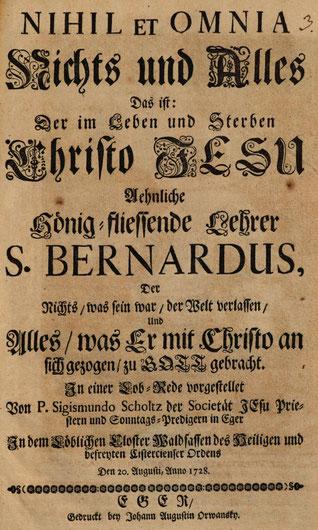 Abb. 1: Titelblatt des Predigtdrucks.