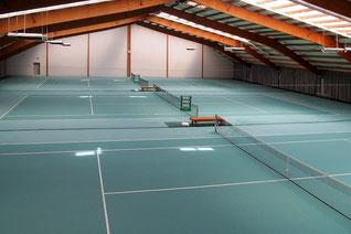 Tennisanlage, Tennisplatz Teppich