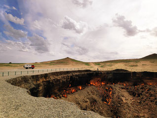Campen am Krater