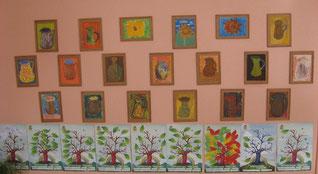 Trečiokų klasė pasipuošė ne tik piešiniais, bet ir knygų medžiais.