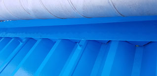 折板屋根の水上水切り部分