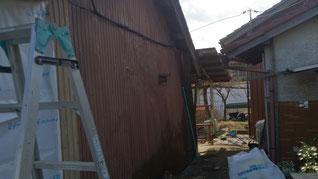 外壁改修 下地打ち 改修前