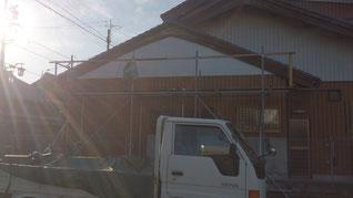 外壁改修 垂井外装工事 板金