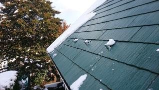 矩勾配の屋根。垂直に感じる