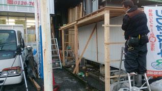 小屋 工事 日曜大工 小屋建て