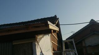 屋根 役物付け後