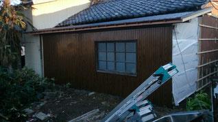 外壁改修 リブトタン貼り終え