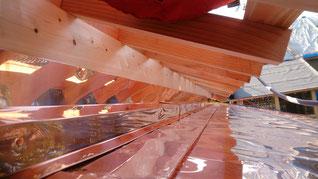 銅板屋根 工事写真