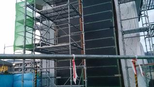 ハゼ加工完成 納め 平葺 壁