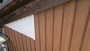 外壁改修 板金 エンボス貼り