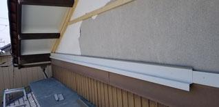 既設のめくれた外壁