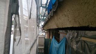 樋 打ち込み 泥壁