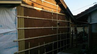 外壁改修 下地完成
