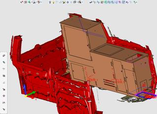 CAD Daten Scan Vw Bus Weekend Bus Campingeinrichtiung