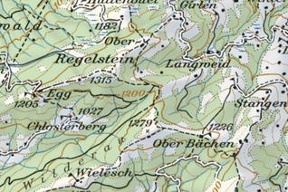 Kartenausschnitt Regelstein / Regulastein