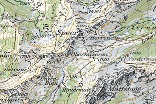 Kartenausschnitt Speer