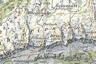 Kartenausschnitt Toggenburger Höhenweg