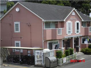 2009年に熱交換塗料を塗布したアパート日吉山ハイツの塗布後の劣化が見られず綺麗です。