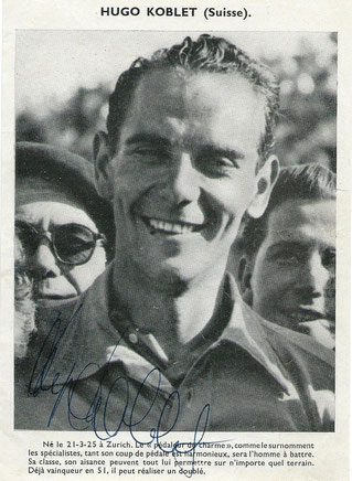 HUGO KOBLET Winner Tour de France 1951