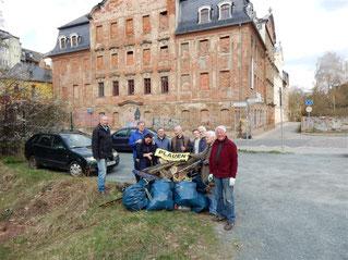Reinigungseinsatz um Weisbachsches Haus