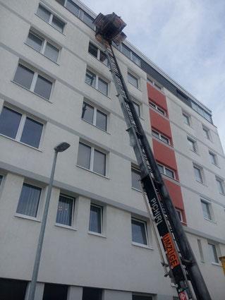 Möbellift 6 Etage Auszug Büroetage 3 LKW 7,5 Tonnen,1 *3,5Tonner in 4,5 Std.