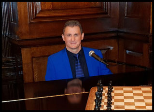 "Greg Canestrari performing at ""Simpson's In The Strand"" at London Savoy"