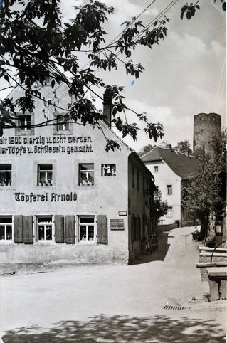 AK Otto Delling alte Töpferei in Kohren