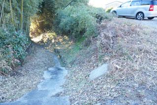 ちょっとスリリングな脇道、市道につながる階段です