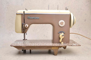Naumann Kl. 45, Geradestich-Haushaltsnähmaschine, Flachbett, Fuß- und Motorantrieb mögl. (Bilder: Nähmasdchinenverzeichnis)
