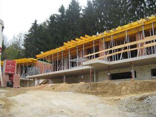 Wohnen im Himmelreich - das Gebäude nimmt Konturen an. Reiter GmbH - energiebaumeister.at