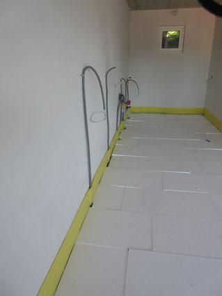 der Fußboden am Himmelreichweg wird  gerade gedämmt, Reiter-GmbH, energiebaumeister.at