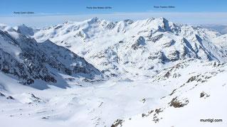 Blick von der Scharte ins Val di Rosole