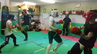 teamYAMATO大和高田本部の格闘技練習