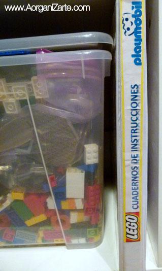 Cómo guardar los libros de instrucciones - www.AorganiZarte.com