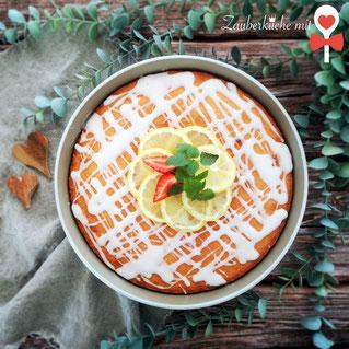 Zitronenkuchen Rezept, runde Ofenhexe von Pampered Chef, Zauberküche mit Herz