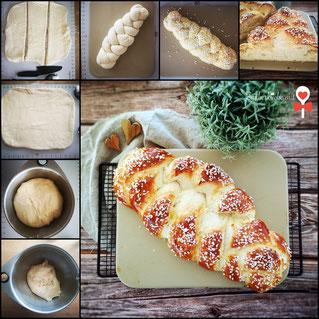 Zauberstein von Pampered Chef®, Rezept Hefezopf, Zauberküche mit Herz Blog Rezept