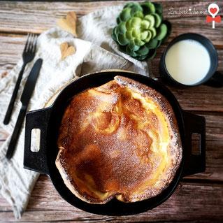 Gusseiserne Pfanne von Pampered Chef®, Ofenpfannkuchen, Pampered Rezepte