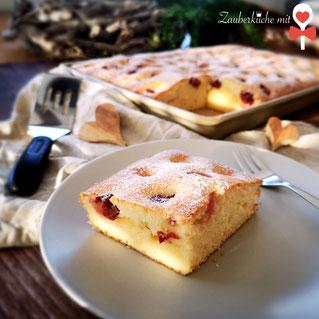 Ofenzauberer von Pampered Chef® , Kirsch Marzipan Kuchen Rezept